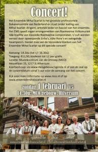 Voorzijde flyer Hilversum 2 februari 2015